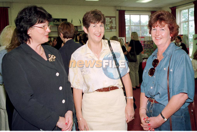 Principle Mary Caffrey, Hilda Maher and Olivia McGuirke at the Sacret Heart School Reunion open day..Pic Fran Caffrey / Newsfile