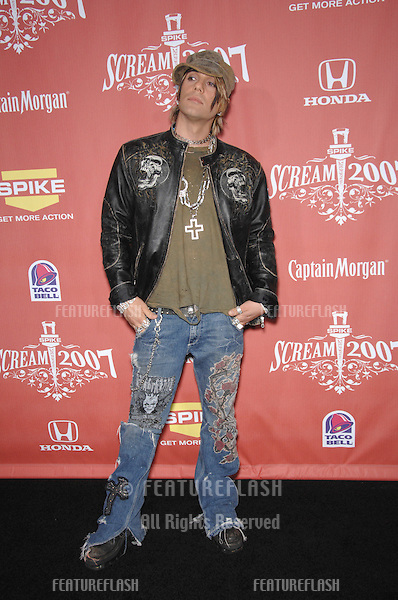 "Magician Criss Angel at Spike TV's ""Scream 2007"" Awards honoring the best in horror, sci-fi, fantasy & comic genres, at the Greak Theatre, Hollywood..October 20, 2007  Los Angeles, CA.Picture: Paul Smith / Featureflash"