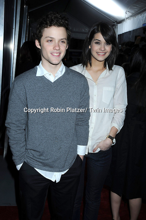 """James Newman and Sofia Black D'Elia attending The New York Special Screening of """"Hanna"""" starring Saoirse Ronan and Eric Bana on April 6, 2011 at The Regal Union square Stadium 14 in New York City."""