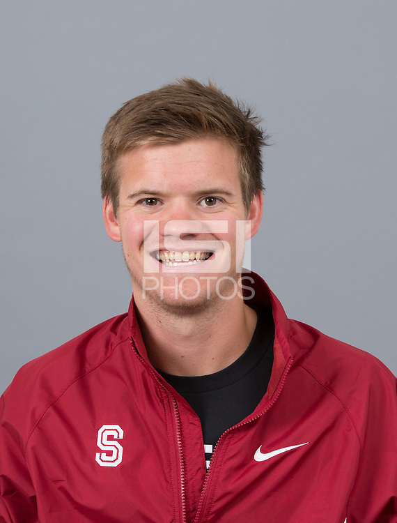 STANFORD, CA - SEPTEMBER 24, 2014--Adam Thorne, with Stanford University Cross Country Team