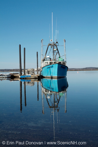 Hampton Harbor in New Hampshire USA, which is part of the New England seacoast.