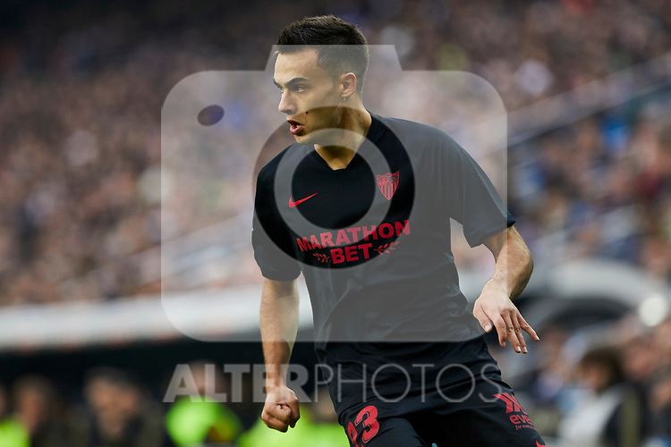 Sergio Reguilon of Sevilla FC during La Liga match between Real Madrid and Sevilla FC at Santiago Bernabeu Stadium in Madrid, Spain. January 18, 2020. (ALTERPHOTOS/A. Perez Meca)