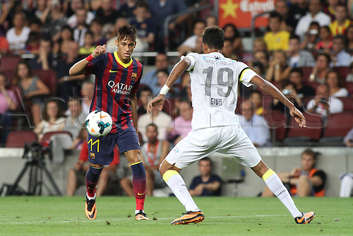 02.08.2013 Barcelona, Friendly football competition Joan Gamper Trophee. Neymar in action during the friendly match in the nou Camp