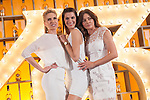 Spanish models (L-R) Judit Masco, Laura Sanchez and Jose Toledo pose during Licor 43 presentation in Madrid, Spain. January 29, 2015. (ALTERPHOTOS/Victor Blanco)
