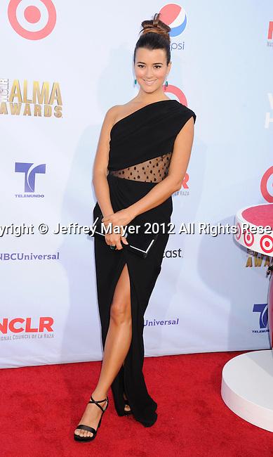 PASADENA, CA - SEPTEMBER 16: Cote de Pablo arrives at the 2012 NCLR ALMA Awards at Pasadena Civic Auditorium on September 16, 2012 in Pasadena, California.
