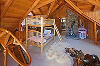 Stock photo of bedroom Stock photo of children's bunk beds