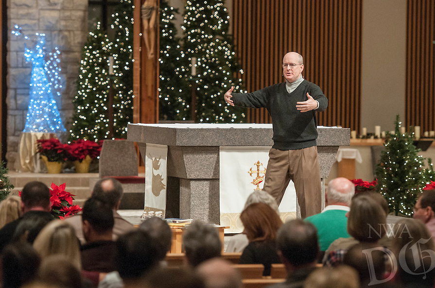 NWA Democrat-Gazette/ANTHONY REYES &bull; @NWATONYR<br /> Allen Hunt with the Dynamic Catholic organization gives a talk Friday, Jan. 8, 2016 on marriage at St. Vincent de Paul Catholic Church in Rogers. Hunt is with the Dynamic Catholic organization and his talk, &quot;Passion and Purpose for Marriage&quot;,  focused on how to make a healthy and happy marriage through faith and understanding your spouse.