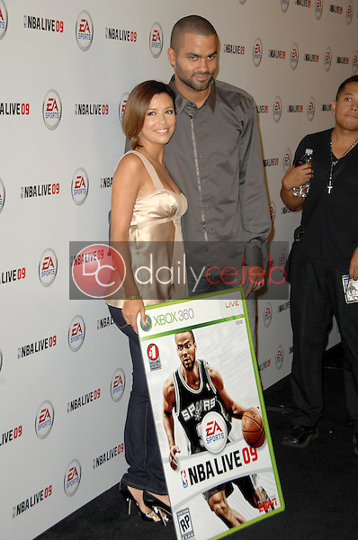 Eva Longoria Parker and Tony Parker<br />