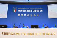 Roma 29-01-2018 Hotel Hilton Airport Assemblea elettiva FIGC Federazione Italiana Giuoco Calcio. Election Italian football association President. foto Antonello Sammarco/Image Sport/Insidefoto