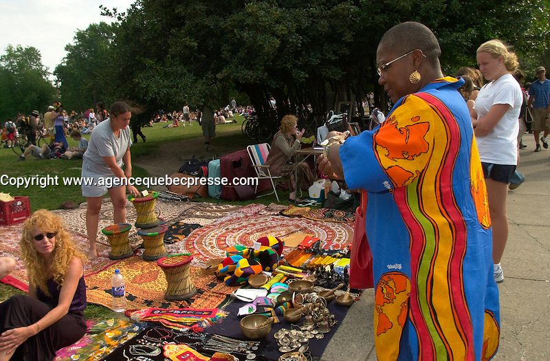 EXCLUSIVE PHOTOS  - <br /> French actress Firmine Richard enjoy a sunday in Montreal, visting the Saint-Joseph Oratory and jamming  with the crowd at the Mont-Royal Tam Tam .<br /> <br /> photo : (c)  Images Distribution