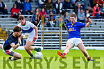 Noel duggan East Kerryputs the ball past Gavin CurranDingle for his teams sixth goal during the County Championship game in Fitzgerald Stadium on Sunday