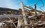 WATERBURY,  CT-122116JS02 --A pile of debris that was dug up from the grounds of the old Chase Brass site site on site while construction continues at the future site of King Industries factory on Thomaston Avenue in Waterbury on Wednesday. Jim Shannon Republican American