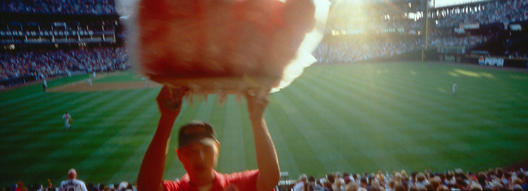 Seattle, Baseball, Safeco Field, cotton candy vendor at a baseball game, Seattle, Washington State, USA