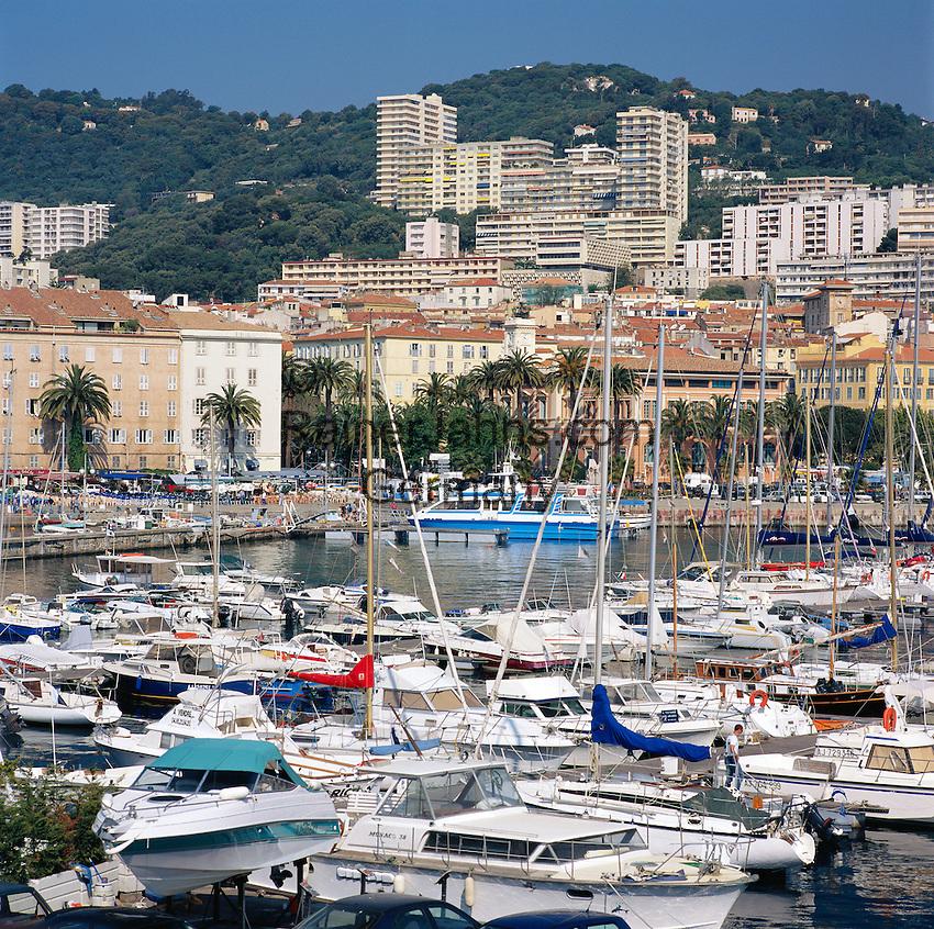 France, Corsica, Ajaccio: Harbour | Frankreich, Korsika, Ajaccio: Hafen