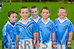 Brian O'Leary, Cillian Cronin, Davin Quilter, Finn Murphy and Tony Daly at the Firies GAA football academy in Farranfore on Friday evening