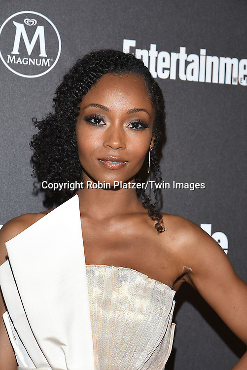Yaya  DeCosta attends the Entertainment Weekly &amp; PEOPLE Magazine New York Upfronts Celebration on May 16, 2016 at Cedar Lake in New York, New York, USA.<br /> <br /> photo by Robin Platzer/Twin Images<br />  <br /> phone number 212-935-0770