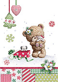 Sharon, CHRISTMAS ANIMALS, WEIHNACHTEN TIERE, NAVIDAD ANIMALES, GBSS, paintings+++++,GBSSC50XFC1,#XA#