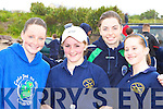 Competing at the Ballinskelligs regatta on Sunday was l-r: Aisling O'Shea Portmagee, Amanda O'Shea, Sandra Dillon and Colette O'Sullivan Ballinskelligs    Copyright Kerry's Eye 2008