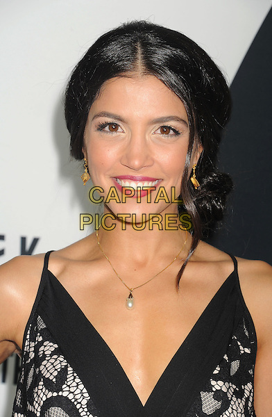 Nazneen Contractor<br /> &quot;Star Trek Into Darkness&quot; DVD/Blu-Ray Release held at the California Science Center, Los Angeles, California, USA.<br /> September 10th, 2013<br /> headshot portrait black lace <br /> CAP/ROT/TM<br /> &copy;Tony Michaels/Roth Stock/Capital Pictures