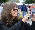 Ginny Christensen, seen at the 27th Annual Hudson Valley Garlic Festival, held in Cantine Field, in Saugerties, NY, on Saturday, October 1, 2016. Photo by Jim Peppler; Copyright Jim Peppler 2016.