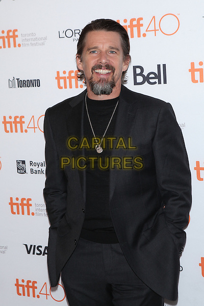 Toronto, Canada - September 13: Ethan Hawke  attends the 'Born To Be Blue' premiere at the 2015 Toronto International Film Festival on September 13, 2015 in Toronto, Canada.<br /> CAP/MPI/COR<br /> &copy;COR/MPI/Capital Pictures