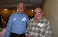 NWA Democrat-Gazette/CARIN SCHOPPMEYER Dick Levin (left) and Larry Parker, CASA board members, attend the Celebration of Success.