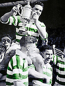 Celtic legend Sean Fallon (botton right) hold his captain Billy McPhail aloft with the Scottish Cup in 1951. The playesr nearest the camera is Alex Boden - Picture by Donald MacLeod - 17.03.11 - 07702 319 738 - www.donald-macleod.com - clanmacleod@btinternet.com