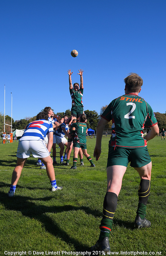 Action from the Transit Coachlines 1st XV Festival rugby union match between Rathkeale College and Napier Boys' High School 2nd XV at Rathkeale College in Masterton, New Zealand on Saturday, 4 May 2019. Photo: Dave Lintott / lintottphoto.co.nz