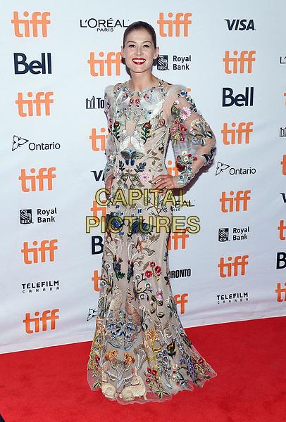11 September 2017 - Toronto, Ontario Canada - Rosamund Pike. 2017 Toronto International Film Festival - &quot;Hostiles&quot; Premiere held at Princess of Wales Theatre. <br /> CAP/ADM/BPC<br /> &copy;BPC/ADM/Capital Pictures