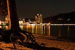 Coeur d' Alene Resort from College Beach night