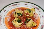 Tortellini in Tomato Sauce, Antica Bottaro Restaurant, Rome, Italy, Europe