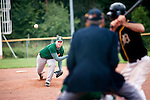 DARMSTADT, GERMANY - SEPTEMBER 01: 2. Bundesliga match between Darmstadt Whippets (black) and Mainz Athletics (green) at Memory Field sports ground on September 01, 2012 in Darmstadt, Germany. (Photo by Dirk Markgraf)