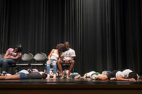 MSU Dawg Daze 2016: &quot;Hypnotized&quot; show featuring Michael C. Anthony.  While under hypnosis, student volunteers fall asleep at the snap of Michael's fingers and obey his most ridiculous suggestions.<br />  (photo by Megan Bean / &copy; Mississippi State University)