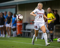 STANFORD, CA - August 30, 2019: Abby Greubel at Maloney Field at Laird Q. Cagan Stadium. The Cardinal defeated the University of Pennsylvania Quakers 5-1.