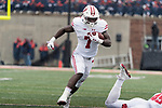 Wisconsin Badgers running back Bradrick Shaw (7) carries the ball during an NCAA College Big Ten Conference football game against the Illinois Fighting Illini Saturday, October 28, 2017, in Champaign, Illinois. The Badgers won 24-10. (Photo by David Stluka)