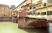 Florence, Italy - March 27, 2006 -- Ponte Vecchio Bridge over the Arno River in Florence, Italy on Monday, March 27, 2006.  The bridge, which dates from 1345 is the oldest surviving bridge in the city.  It houses antique and specialized jewelry shops..Credit: Ron Sachs / CNP