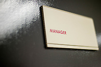 Managers door <br /> Re: Behind the Scenes Photographs at the Liberty Stadium ahead of and during the Premier League match between Swansea City and Bournemouth at the Liberty Stadium, Swansea, Wales, UK. Saturday 25 November 2017
