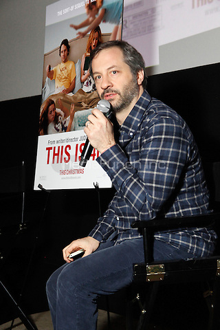 PHILADELPHIA, PA - NOVEMBER 27 :  Judd Apatow writer and director of This Is 40 pictured at a Q&A at the Ritz 5 in Philadlphia, Pa on November 27, 2012  ***EXCLUSIVE***  HOUSE PHOTOGRAPHER  © Star Shooter / MediaPunch Inc