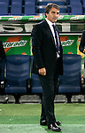 Calcio, Serie A: Lazio vs Genoa. Roma, stadio Olimpico, 23 settembre 2012..Genoa coach Luigi De Canio looks on prior to the start of the Italian Serie A football match between Lazio and Genoa at Rome's Olympic stadium, 23 September 2012..UPDATE IMAGES PRESS/Riccardo De Luca