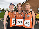 Olga Turner, Aisling Glenfield and Aisling Crosson who took part in the Meath Coast 10K run. Photo:Colin Bell/pressphotos.ie