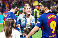FC Barcelona Lionel Messi,  Sofía Balbi and Luis Suarez during King's Cup Finals match between Sevilla FC and FC Barcelona at Wanda Metropolitano in Madrid, Spain. April 21, 2018. (ALTERPHOTOS/Borja B.Hojas)