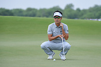 Kevin Na (USA) lines up his putt on 3 during round 3 of the AT&amp;T Byron Nelson, Trinity Forest Golf Club, at Dallas, Texas, USA. 5/19/2018.<br /> Picture: Golffile | Ken Murray<br /> <br /> <br /> All photo usage must carry mandatory copyright credit (&copy; Golffile | Ken Murray)