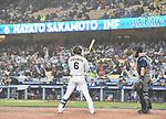 Hayato Sakamoto (JPN),<br /> MARCH 21, 2017 - WBC :<br /> Hayato Sakamoto of Japan at bat during the 2017 World Baseball Classic Semifinal game between United States 2-1 Japan at Dodger Stadium in Los Angeles, California, United States. (Photo by AFLO)