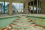 The Pool Stairs of the Interior Pool of the Pines Hotel in the Catskills