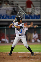 Hudson Valley Renegades pinch hitter Adrian Rondon (13) at bat during a game against the Auburn Doubledays on September 5, 2018 at Falcon Park in Auburn, New York.  Hudson Valley defeated Auburn 11-5.  (Mike Janes/Four Seam Images)