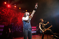LONDON, ENGLAND - MARCH 11: ZP Theart and Rachel Bolan of 'Skid Row' performing at Shepherd's Bush Empire on March 11, 2018 in London, England.<br /> CAP/MAR<br /> &copy;MAR/Capital Pictures