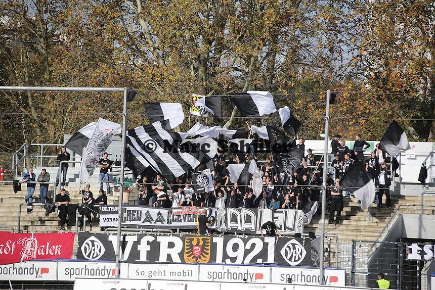 Fans aus Aalen - FSV Frankfurt vs. VfR Aalen, Frankfurter Volksbank Stadion