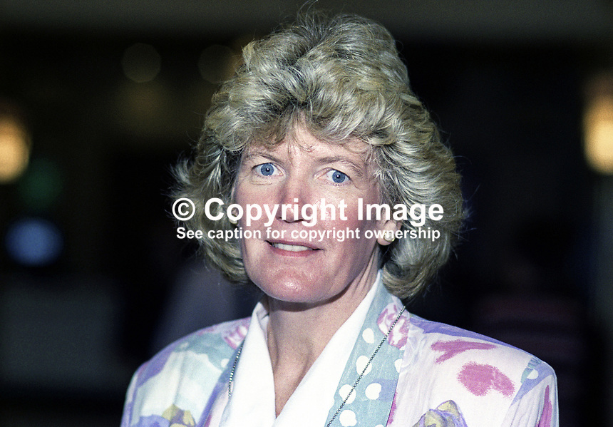 Ann Taylor, MP, Labour Party, UK, taken annual conference October 1992. 19921022AT.<br /> <br /> Copyright Image from Victor Patterson, 54 Dorchester Park, <br /> Belfast, UK, BT9 6RJ<br /> <br /> t1: +44 28 9066 1296 (from Rep of Ireland 048 9066 1296)<br /> t2: +44 28 9002 2446 (from Rep of Ireland 048 9002 2446)<br /> m: +44 7802 353836<br /> <br /> e1: victorpatterson@me.com<br /> e2: victorpatterson@gmail.com<br /> www.victorpatterson.com<br /> <br /> Please see my Terms and Conditions of Use at www.victorpatterson.com. It is IMPORTANT that you familiarise yourself with them.<br /> <br /> Images used on the Internet must be visibly watermarked i.e. &copy; Victor Patterson<br /> within the body of the image and copyright metadata must not be deleted. Images <br /> used on the Internet have a size restriction of 4kbs and will be chargeable at current<br />  NUJ rates unless agreed otherwise.<br /> <br /> This image is only available for the use of the download recipient i.e. television station, newspaper, magazine, book publisher, etc, and must not be passed on to any third <br /> party. It is also downloaded on condition that each and every usage is notified within 7 days to victorpatterson@me.com<br /> <br /> The right of Victor Patterson to be identified as the author is asserted in accordance with The Copyright Designs And Patents Act (1988). All moral rights are asserted.