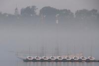 Maine Maritime Academy Sailboats Docked in Oakum Bay, Castine, Maine, US