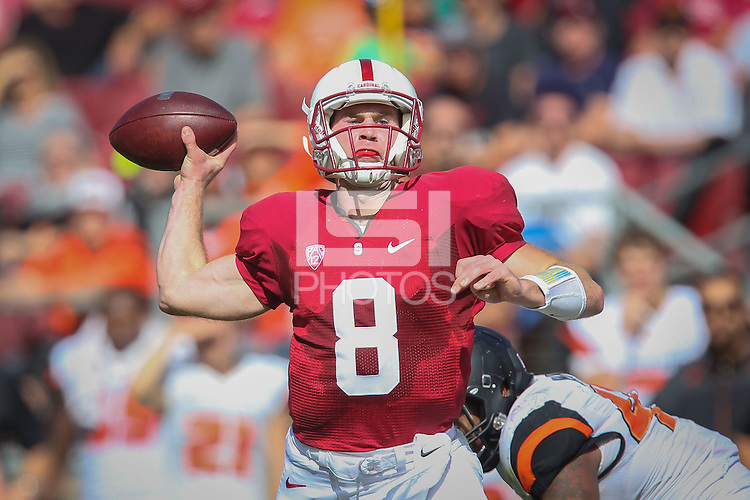 STANFORD, CA-OCTOBER 25, 2014-Stanford Football defeats the visiting Oregon State Beavers 38-14.